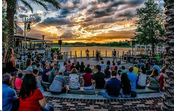 live entertainment each night at Waterview Park near The Boat House and Jock Lindsey's Hangar Bar