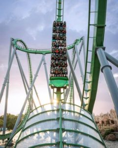 Islands of Adventure Orlando Florida Hulk Roller Coaster
