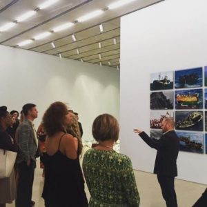"""Ambassadors for African American Art and Core Creative members enjoying a private tour of """"Poetics of Relation,"""" led by #PAMM Chief Curator Tobias Ostrander."""